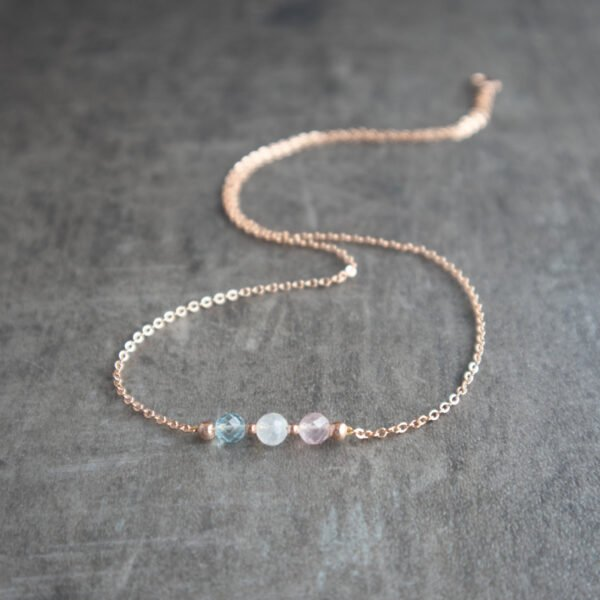 Fertility Necklace with gold finishing and gemstones