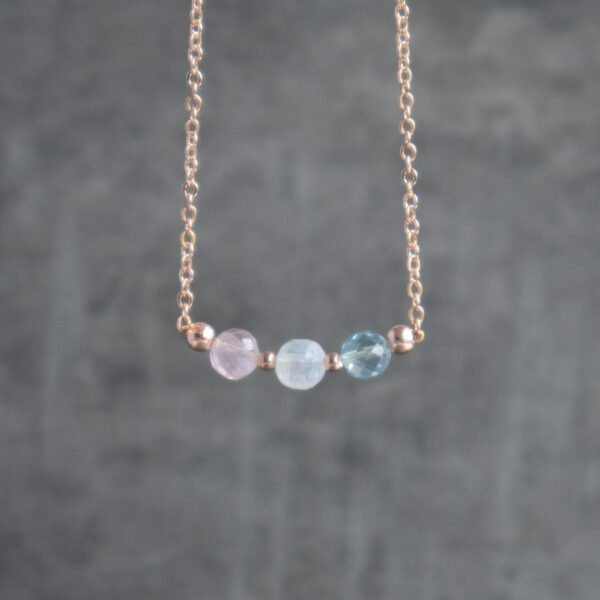 Fertility Necklace with gemstones and gold finish
