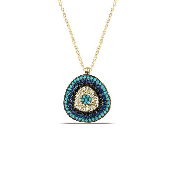 Nazar Necklace in Gold
